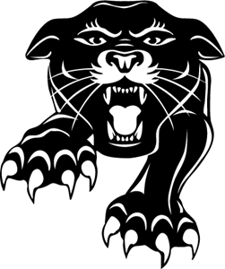 Panther clipart symbol.