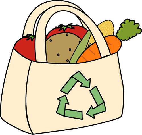 grocery clipart bag