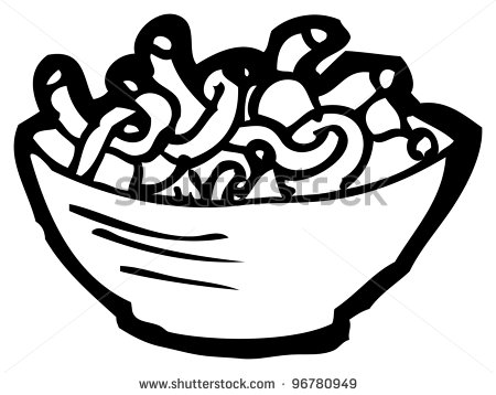 Pasta clipart outline.