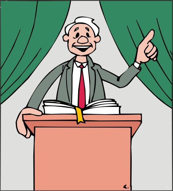 reverend clipart church podium
