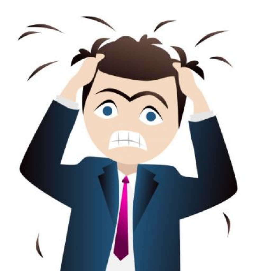 Pastor clipart stressed.