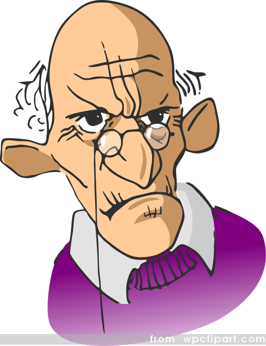 Pastor clipart unhappy person.