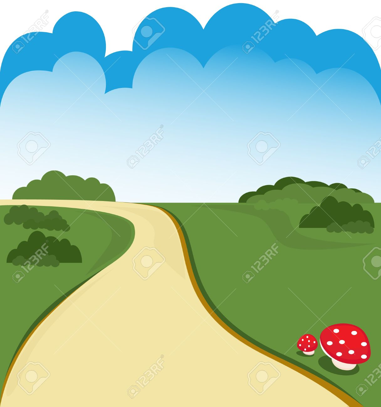 Road clipart animated.