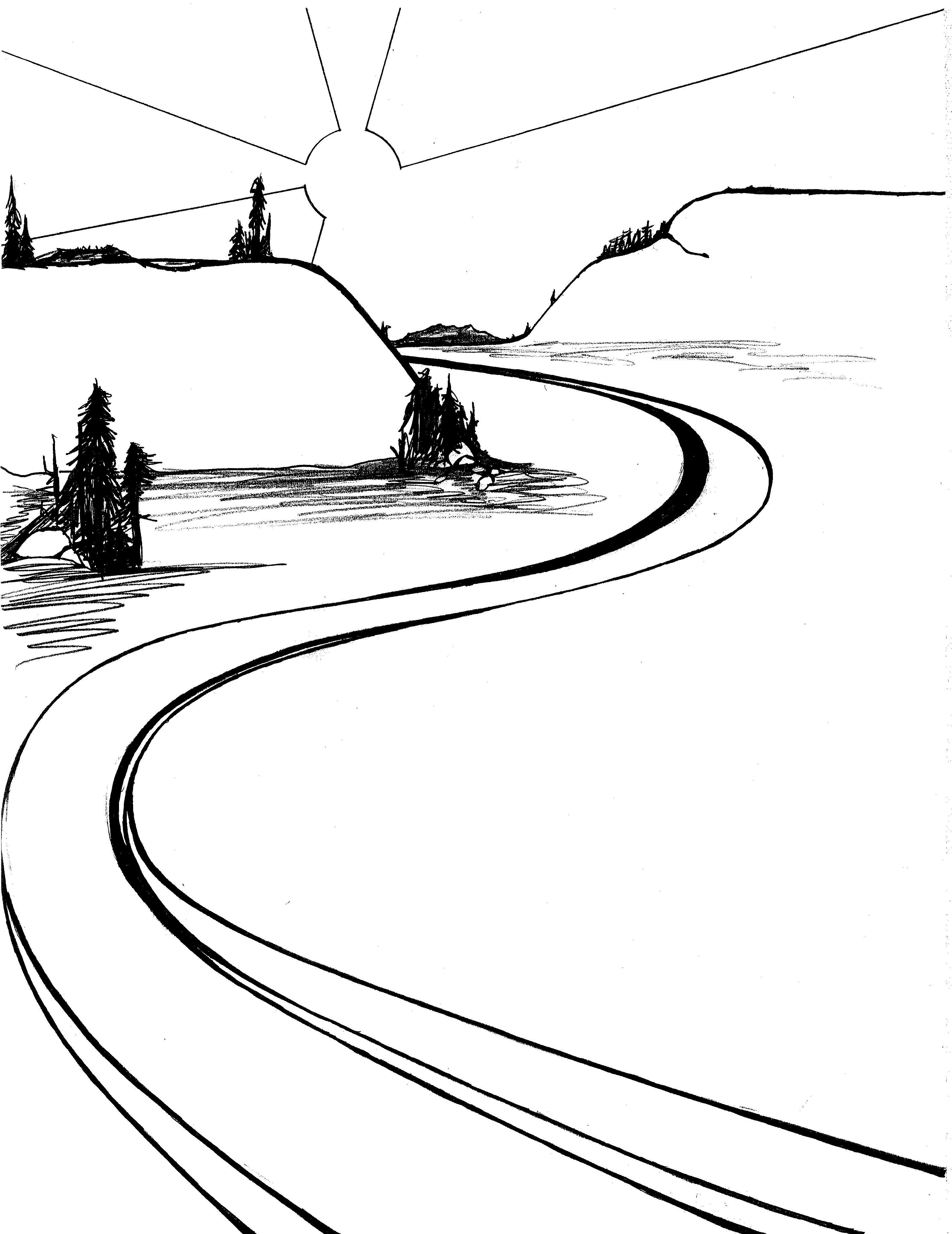 river clipart drawing