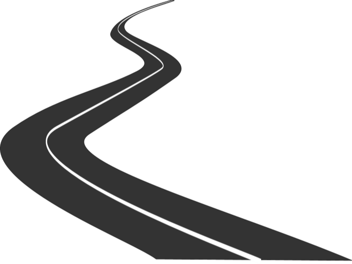 clipart road curved