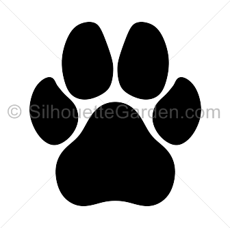 paw print clipart silhouette