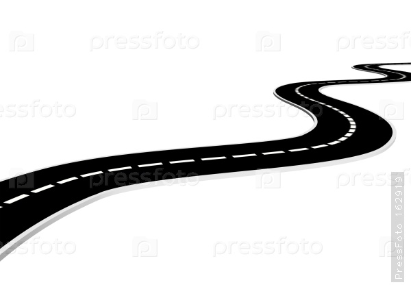 clipart road winding