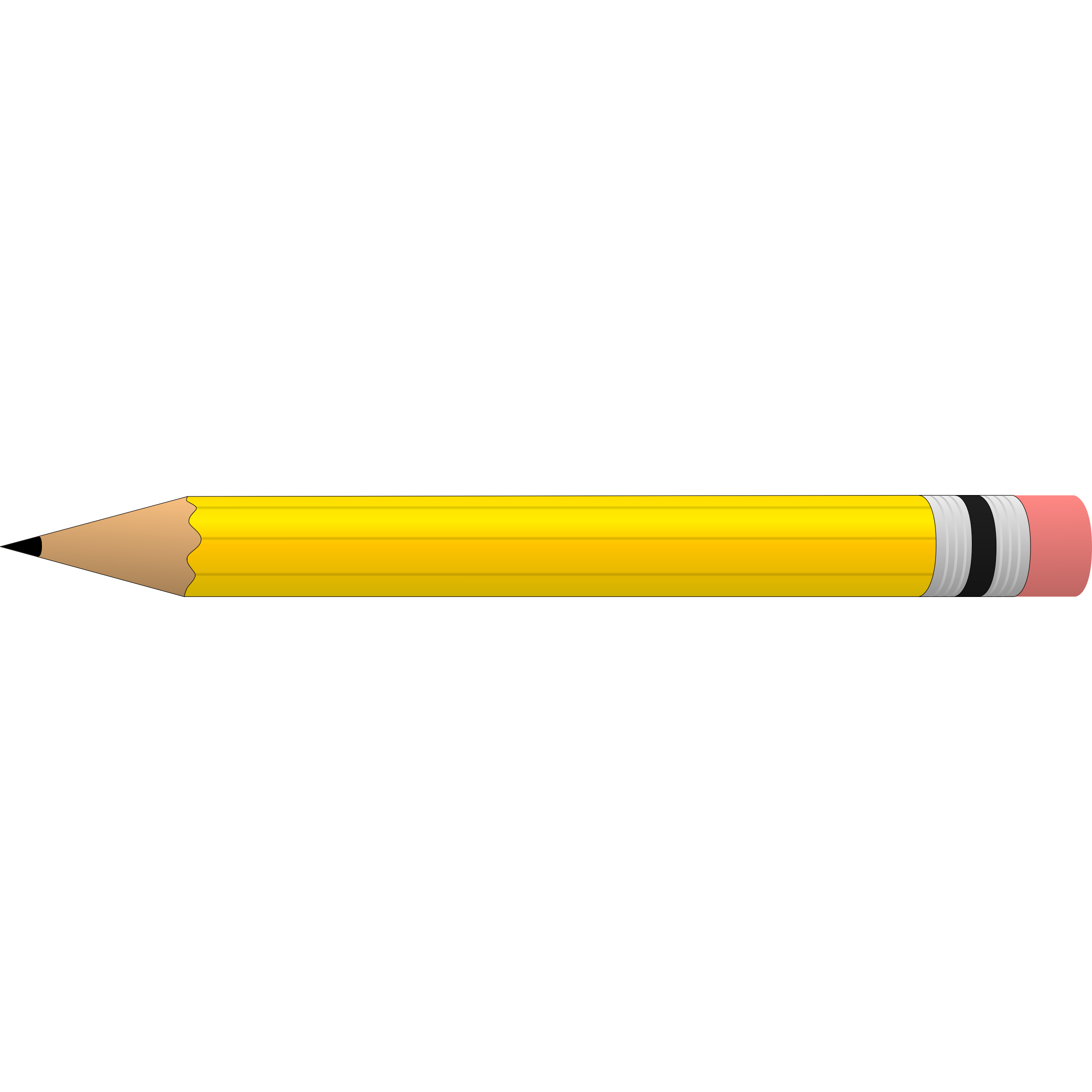clipart pencil horizontal