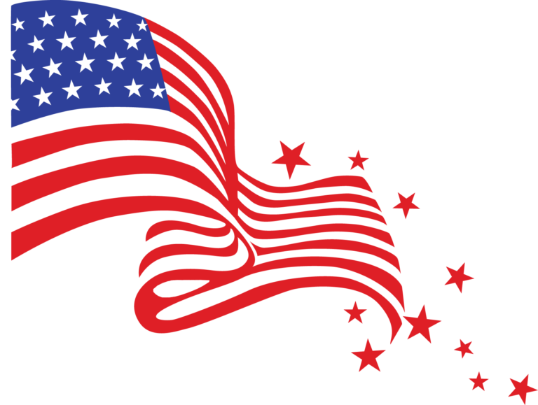 happy 4th of july clipart flag