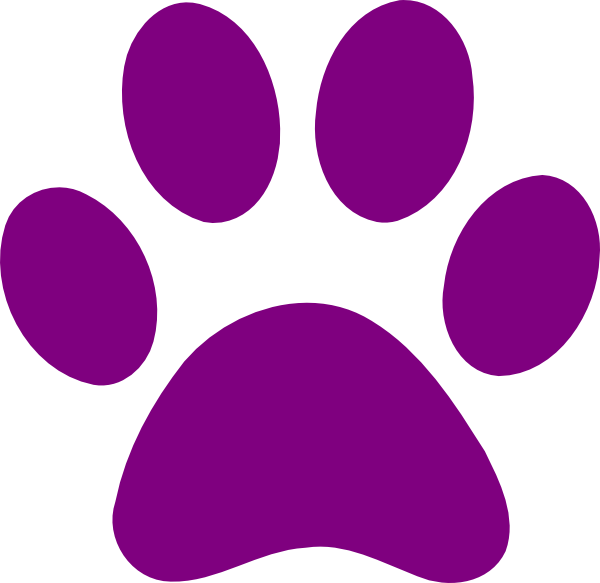paw print clipart colorful