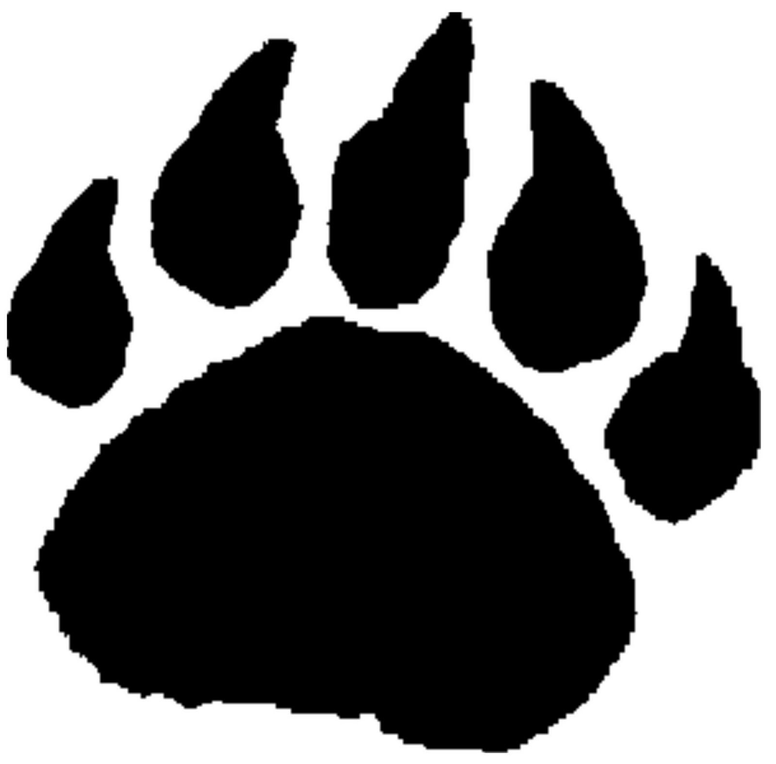 bear paw clipart transparent background