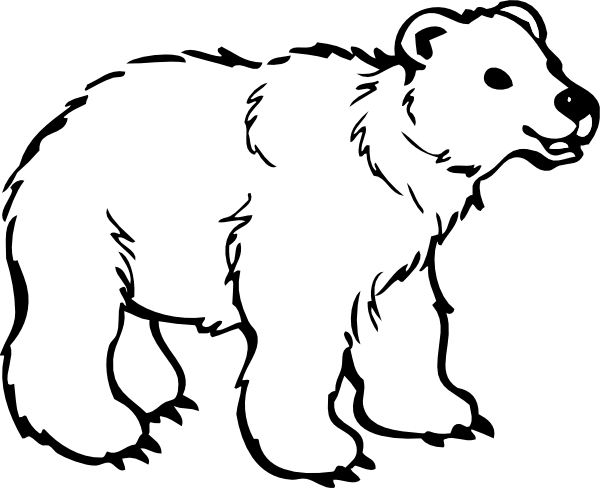 black bear clipart white