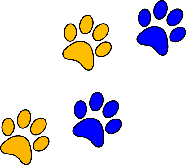 bear paw clipart golden