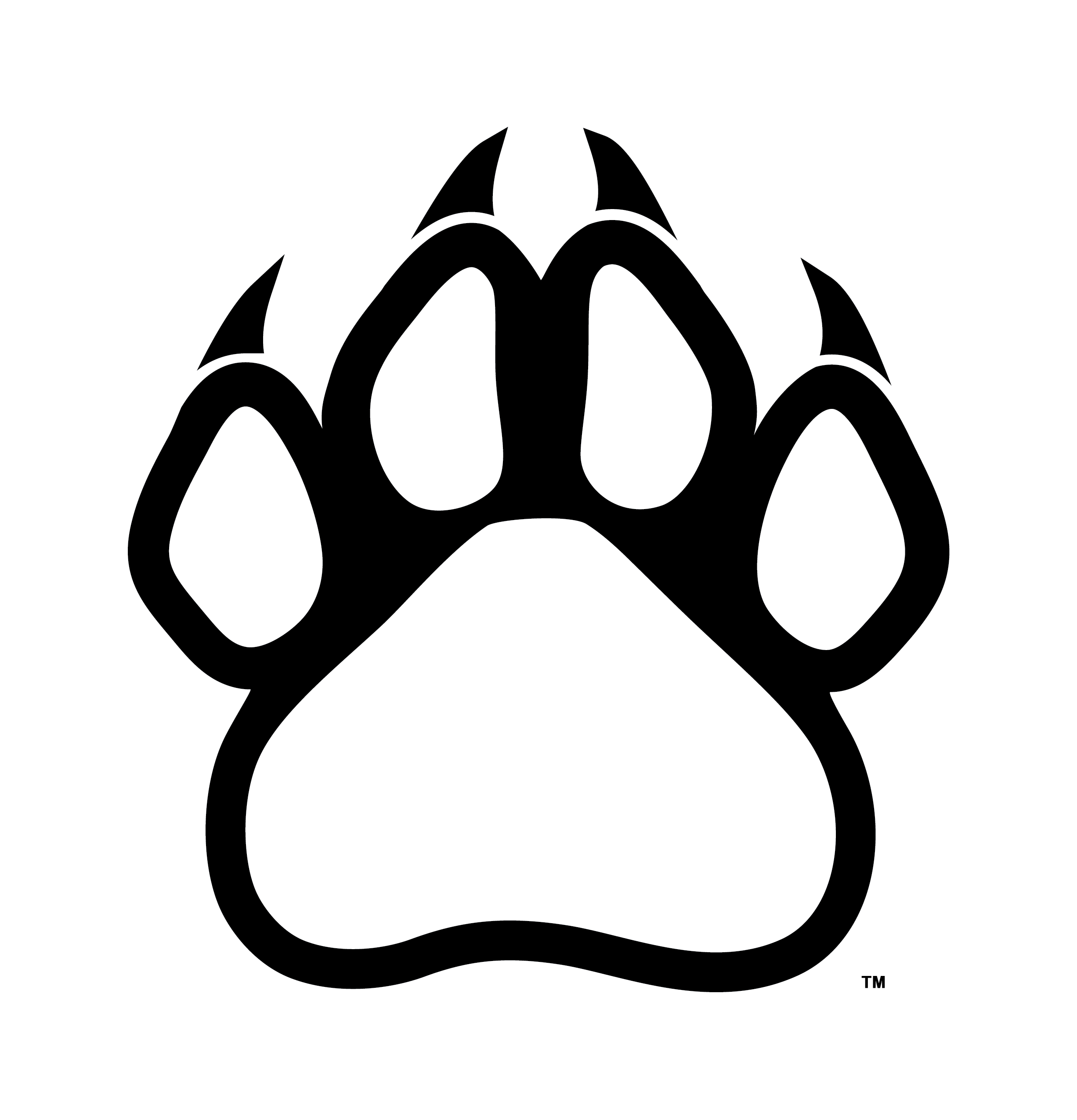 bear paw clipart outline
