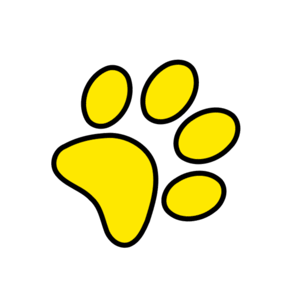 paw print clipart yellow