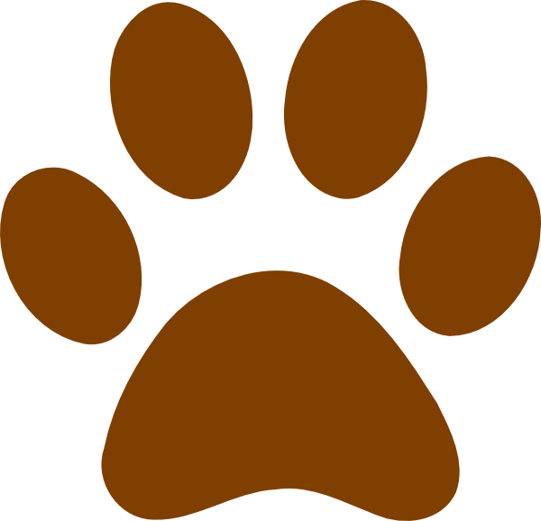 bear paw clipart brown