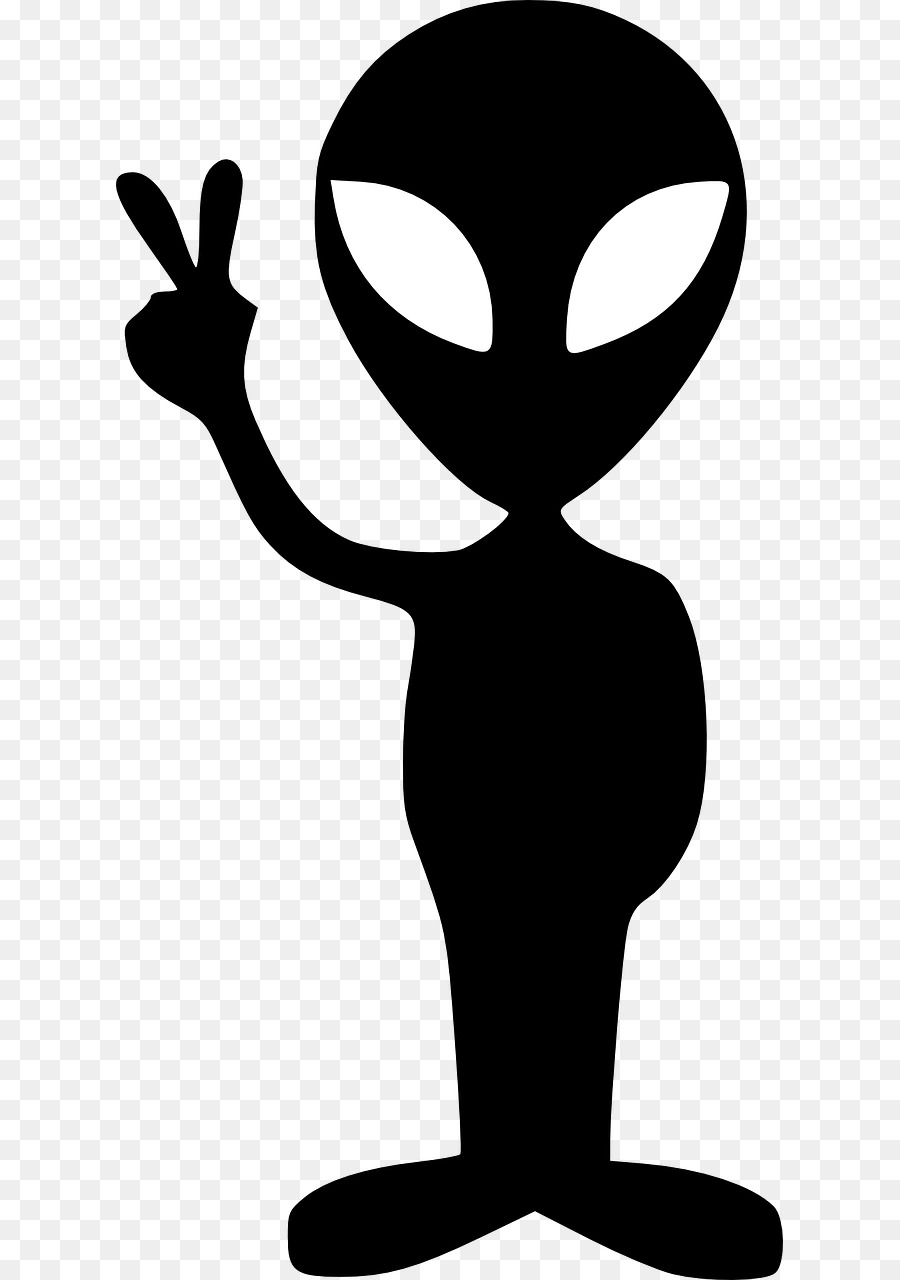 Alien clipart peace.