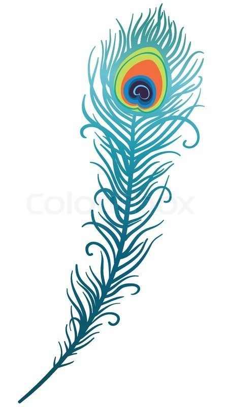 Flute clipart peacock feather.