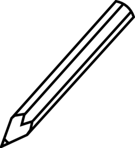 clipart pencil outline