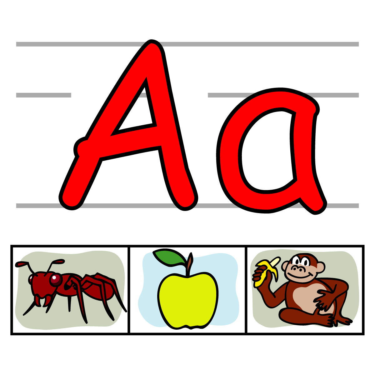 letter a clipart individual