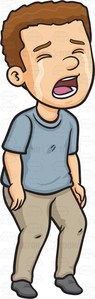 crying clipart man