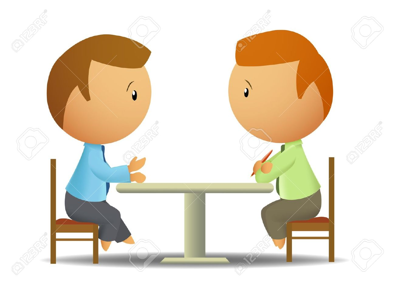 Talking clipart two person.