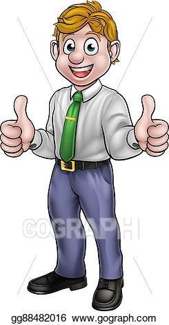 clipart thumbs up man