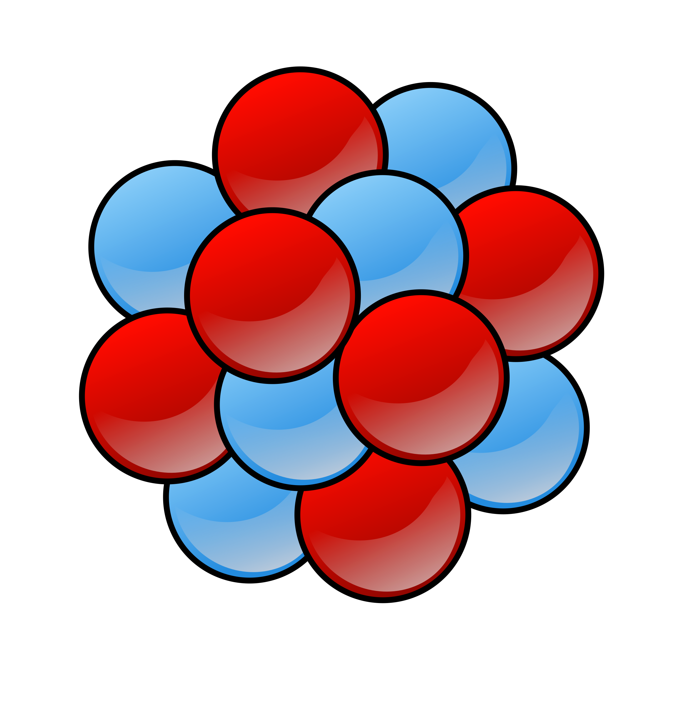 Physics clipart atomic structure.