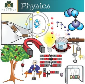 Physics clipart all about science.