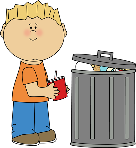 trash can clipart throw