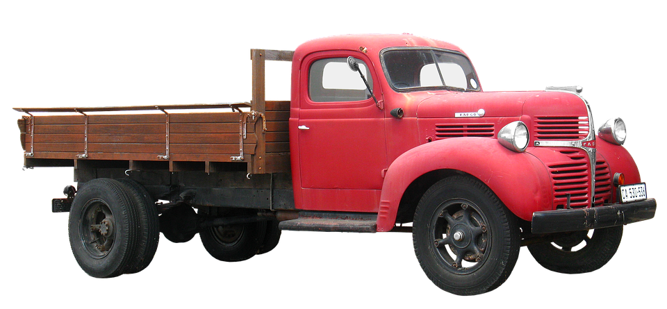 Pickup clipart red pickup truck.