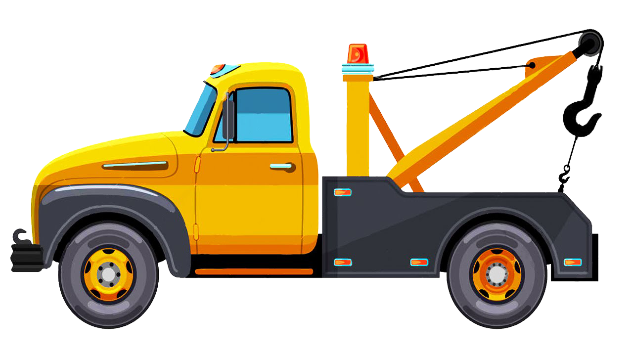 tow truck clipart yellow