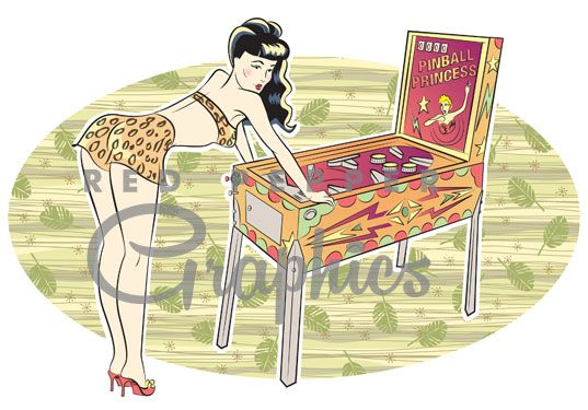 pinball clipart vintage
