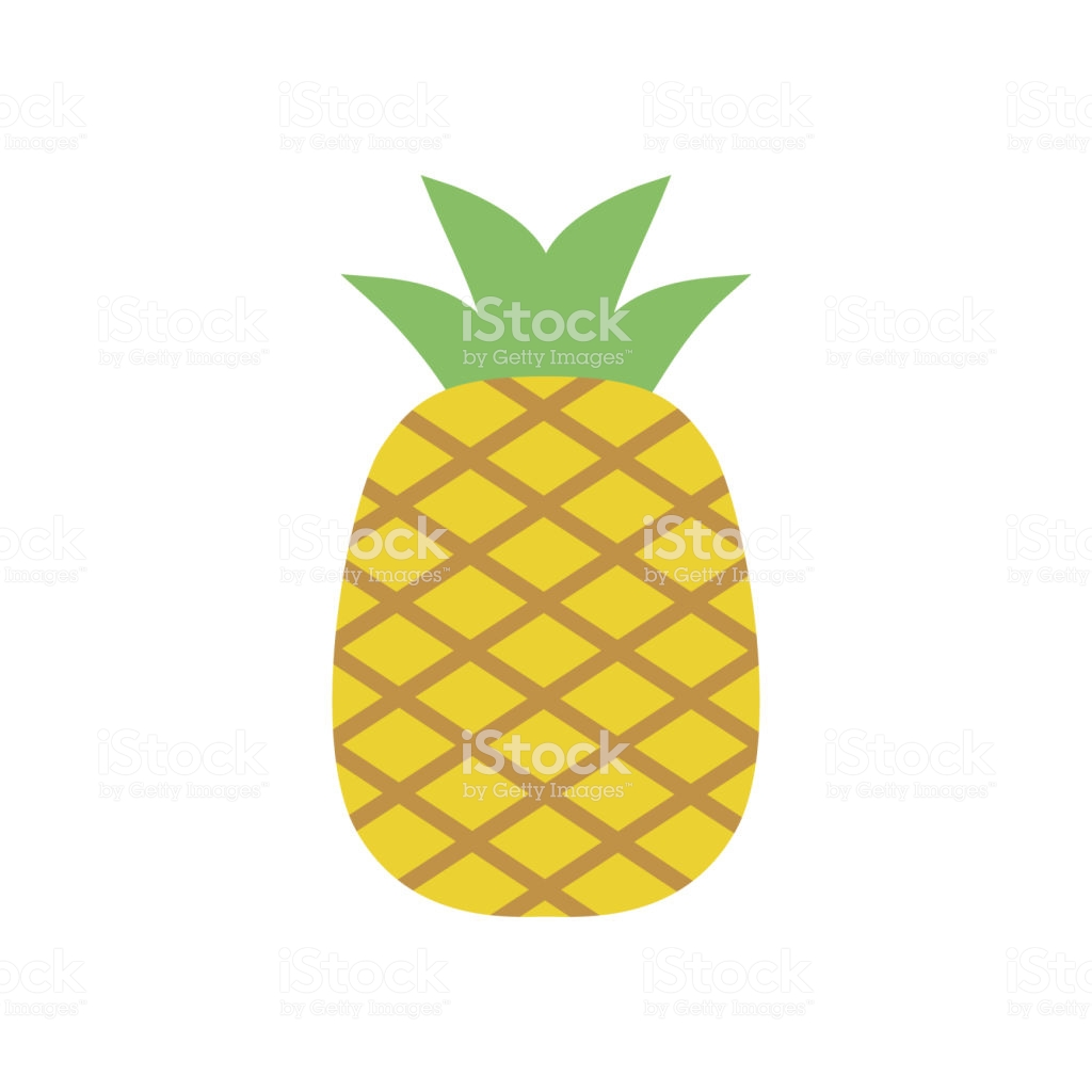 Pineapple clipart black and white simple.