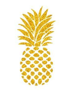 pineapple clipart gold