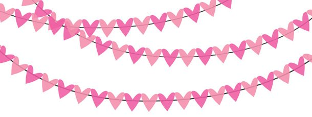 pennant banner clipart pink