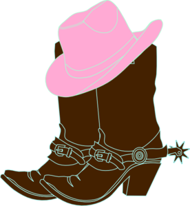 Pink clipart cowgirl hat.