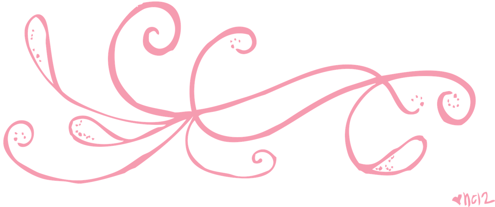 Pink clipart divider.