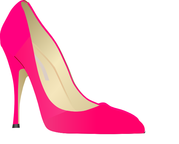 clipart shoes pink