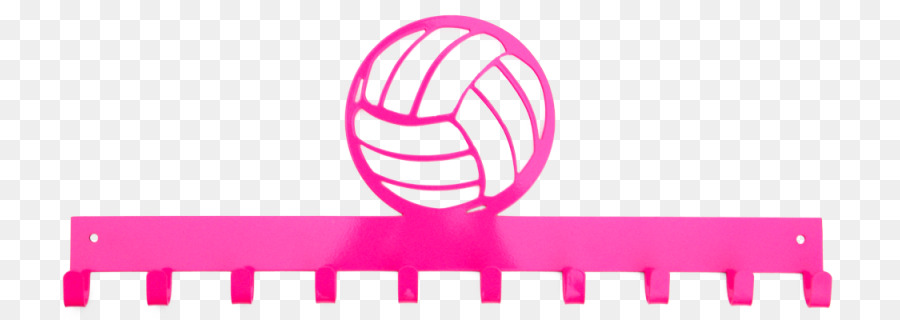 volleyball clipart pink