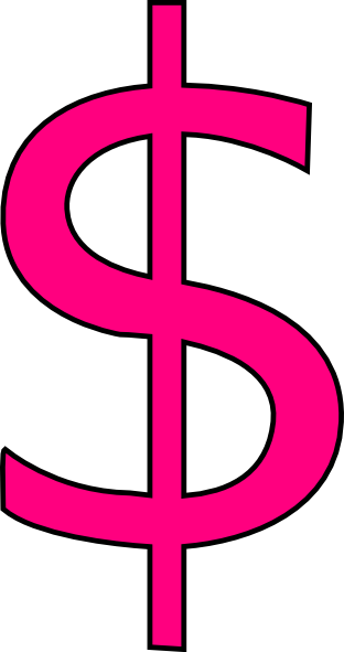 dollar sign clipart pink