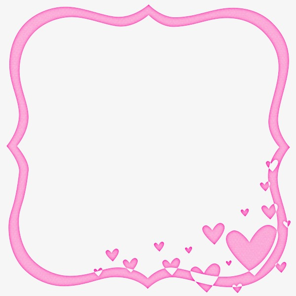 Pink clipart picture frame.