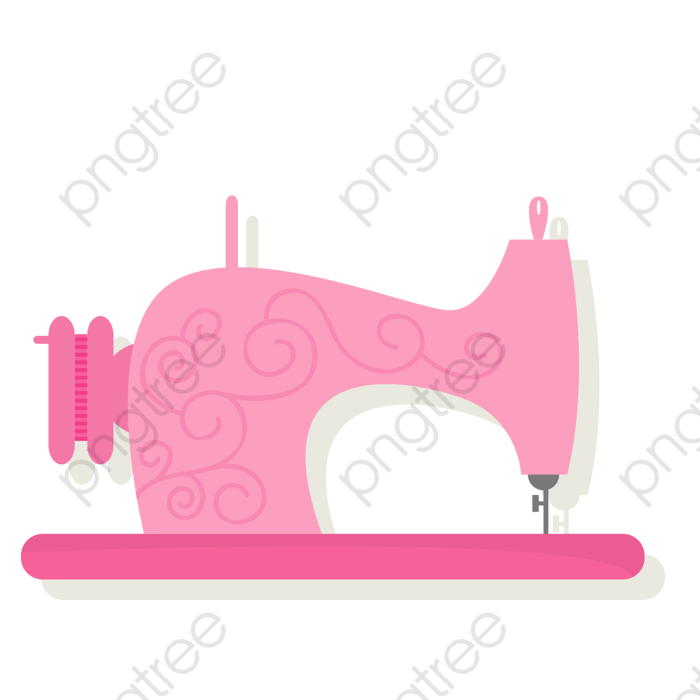 sewing machine clipart pink