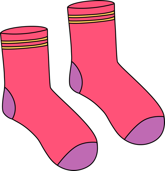 sock clipart pair