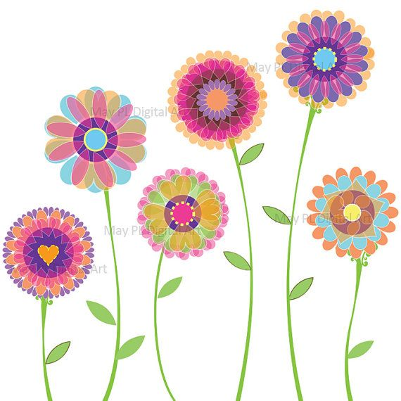 spring flower clipart purple
