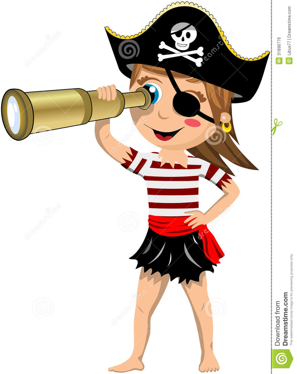 Pirate clipart woman.