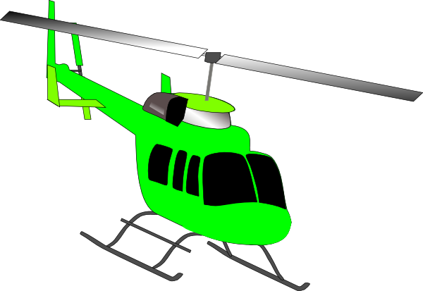 helicopter clipart yellow