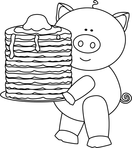 pancakes clipart if you give a pig pancake