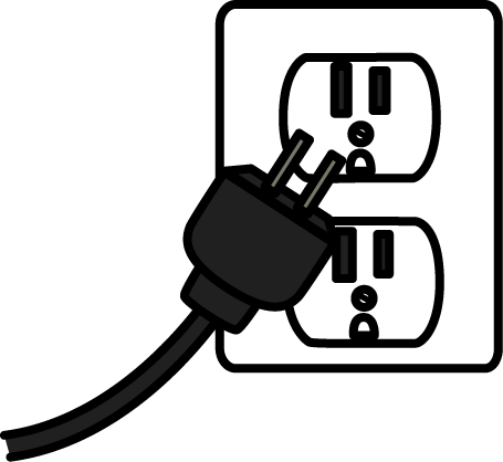 Motorized clipart plugged.