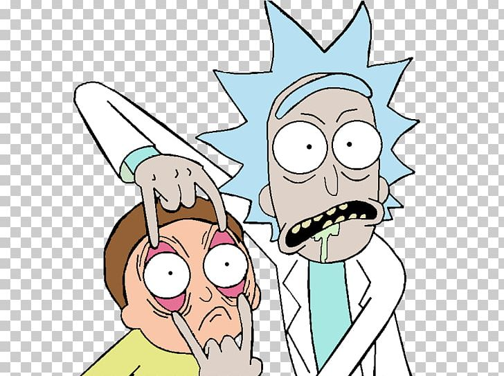 rick and morty portal clipart middle finger